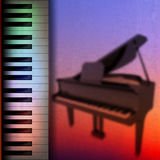 Abstract grunge music background. With grand piano Stock Photos