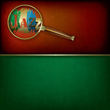 Abstract music background with logo jazz and Magni Stock Image