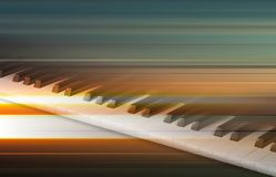 Abstract grunge music background with piano. Abstract blur music background with piano keys on gray Royalty Free Stock Photography