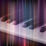 Abstract grunge music background with piano. Abstract blue music background with piano keys Royalty Free Stock Photography