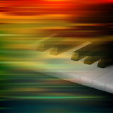 Abstract grunge music background with piano. Abstract brown motion blur background with piano keys Stock Photo