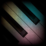 Abstract grunge music background with piano Stock Photography