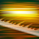 Abstract grunge music background with piano. Abstract green blur music background with piano keys Stock Photo