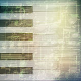 Abstract grunge music background with piano keys Stock Photos