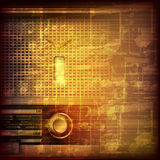 Abstract grunge music background with retro radio Royalty Free Stock Photo