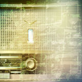 Abstract grunge music background with retro radio Stock Image
