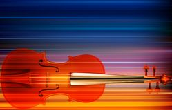Abstract grunge music background with violin. Abstract blur music background with violin Royalty Free Stock Photo