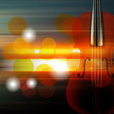 Abstract grunge music background with violin. Abstract music blur background with violin Stock Photography