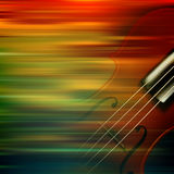 Abstract grunge music background with violin Stock Photos