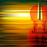 Abstract grunge music background with violin Royalty Free Stock Photos