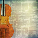 Abstract grunge music background with violin Stock Photography