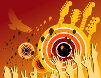 Abstract Grunge Music Party stock illustration