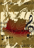 Abstract grunge musical background Royalty Free Stock Photos