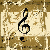 Abstract grunge musical background Stock Photo
