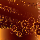 Abstract grunge musical background. Vector Royalty Free Stock Photography
