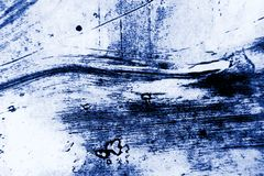 Abstract Grunge Decorative Navy Blue Dark paint brush strokes background royalty free stock photography