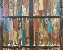 Abstract grunge old painted wooden cupboard for background and t stock images