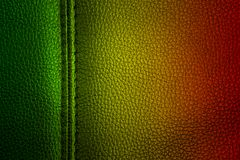 Abstract grunge painted scratched texture background . reggae colors green, yellow, red.  Royalty Free Stock Photos