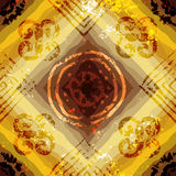 Abstract grunge pattern on yellow background Stock Photo