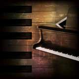 Abstract grunge piano background with grand piano Royalty Free Stock Photos