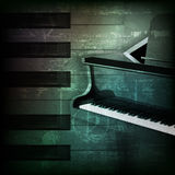 Abstract grunge piano background with grand piano Royalty Free Stock Image