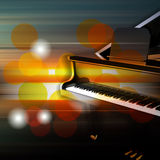 Abstract grunge piano background with grand piano Royalty Free Stock Photography