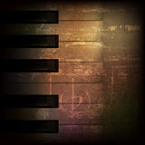 Abstract grunge piano background with piano keys Royalty Free Stock Image