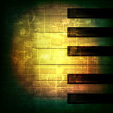 Abstract grunge piano background with piano keys Royalty Free Stock Photography