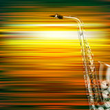 Abstract grunge piano background with saxophone Royalty Free Stock Image