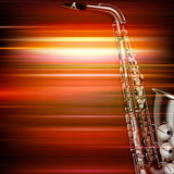 Abstract grunge piano background with saxophone Royalty Free Stock Photo