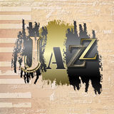 Abstract grunge piano background with word Jazz Royalty Free Stock Photo
