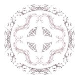 Abstract grunge pink isolated pattern. Abstract grunge pink floral pattern isolated on white background. Rough noise design Stock Image