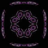 Abstract grunge purper bloemenpatroon Royalty-vrije Stock Foto