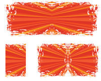Abstract grunge with rays. A  red and orange abstract grunge with rays Royalty Free Stock Photography
