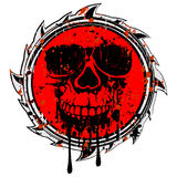 Abstract grunge red sign skull Stock Photography