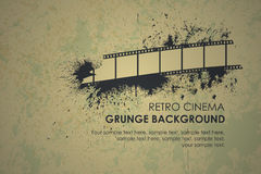 Abstract grunge retro background. Torn film Royalty Free Stock Photography