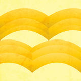 Abstract grunge retro yellow waves Stock Images