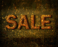 Abstract grunge sale sign Stock Image