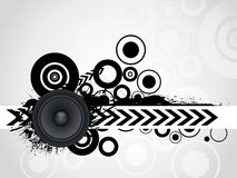 Abstract grunge speaker with arrow Royalty Free Stock Images