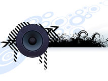 Abstract grunge speaker with arrow Stock Images