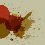 Abstract grunge splash brush strokes Royalty Free Stock Images