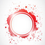 Grunge splash circle illustration Royalty Free Stock Photo