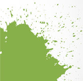 Abstract grunge splash of greenery - color of the year. Vector illustration. Stock Photography