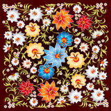 Abstract grunge spring floral ornament Royalty Free Stock Photo