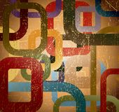 Abstract grunge square on brown background Stock Photos