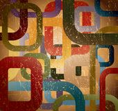 Abstract grunge square on brown background. Vector Stock Photo