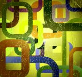 Abstract grunge square on green background royalty free stock photo