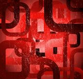 Abstract grunge square on red background. Vector Royalty Free Stock Images