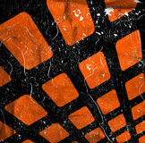 Abstract grunge squares. Background with scratches Royalty Free Stock Images