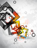 Abstract grunge squares. Vector background Royalty Free Stock Image